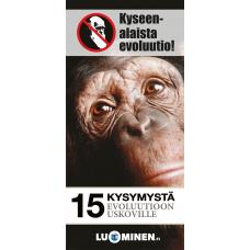15 kysymystä evoluutioon uskoville